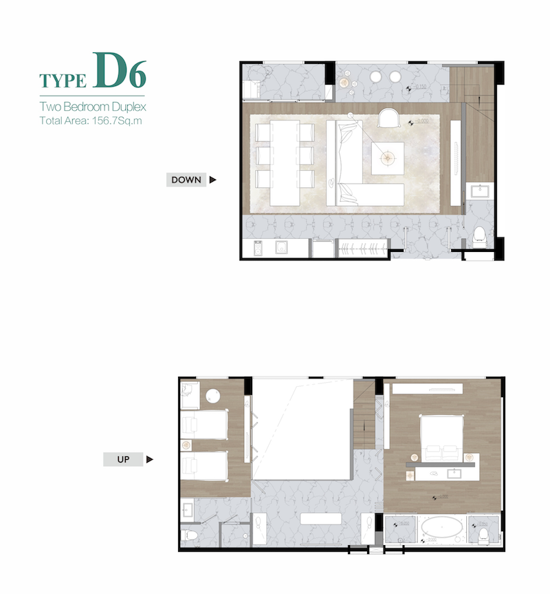 Two bedroom duplex