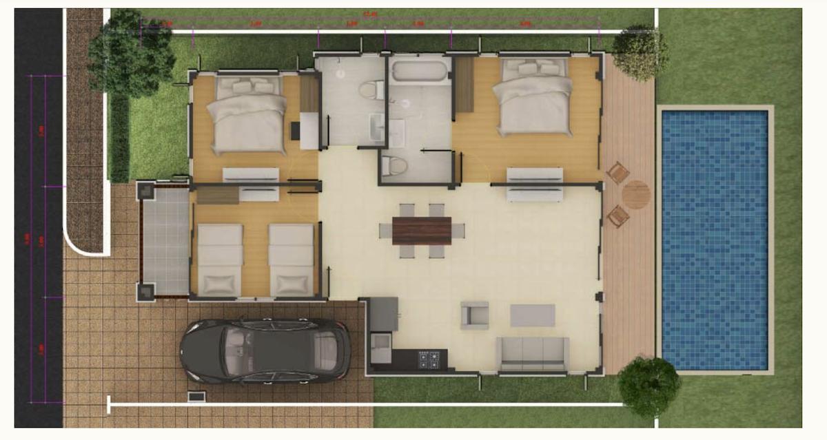 Villa 3 chambres